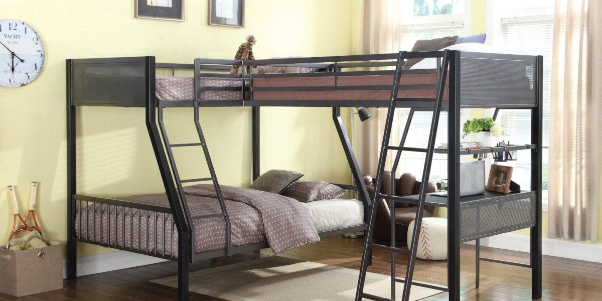 Fun-Black-Gunmetal-Twin-Full-Youth-Loft-Triple