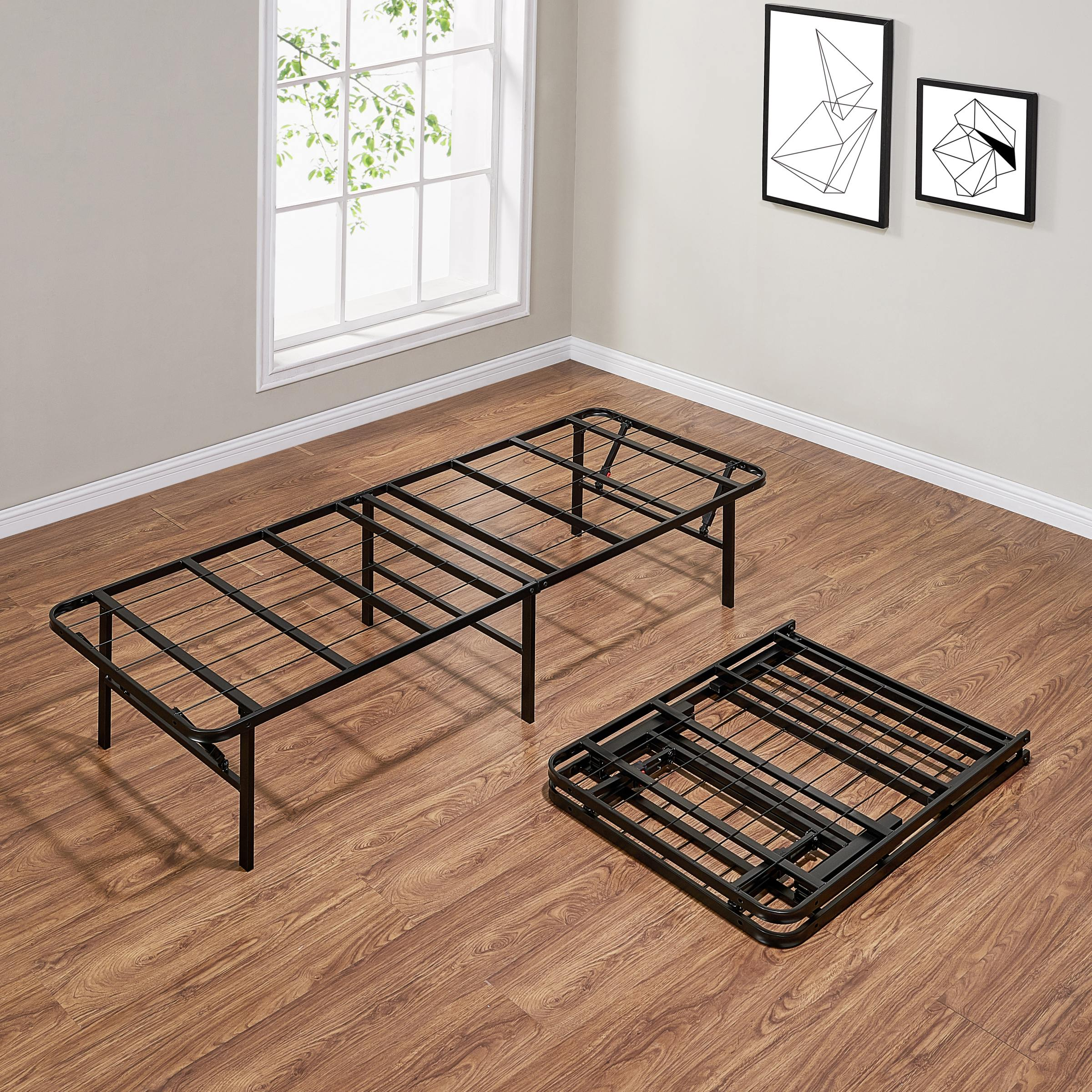 - 14″ High Profile Foldable Steel Bed Frame/Twin Bon Furniture
