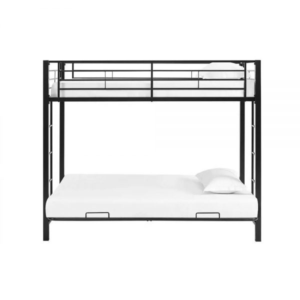 Kids Metal Twin Over Futon Bunk Bed
