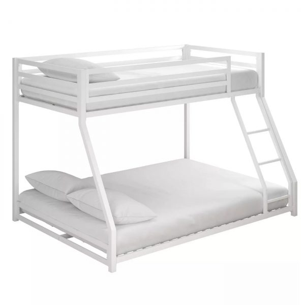 Twin-full metal bunk bed-bon furniture (4)