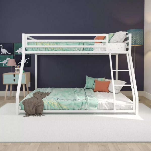 Twin-full metal bunk bed-bon furniture (8)